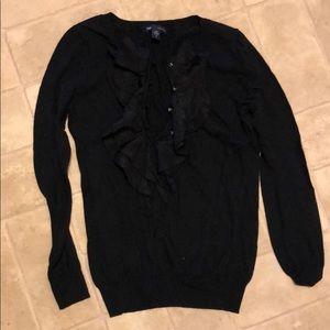 Gap Navy Ruffle Sweater Small.